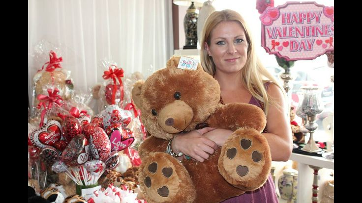 Employee Cyra with our Teddy Bear Valentino.. Valentino is Individual Flower Gallery's prize to celebrate Valentine's Day.. One lucky Facebook member will get to take him home xx If you want to be part of the giveaway just search Individual Flower Gallery on FB and follow the instructions listed in the post.. ❤️❤️❤️