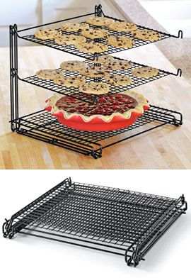 3-Tier Mesh Nonstick Cooling Rack, Stacked Cookie Rack. Except I am not putting the pie on the bottom to catch the cookie crumbs!