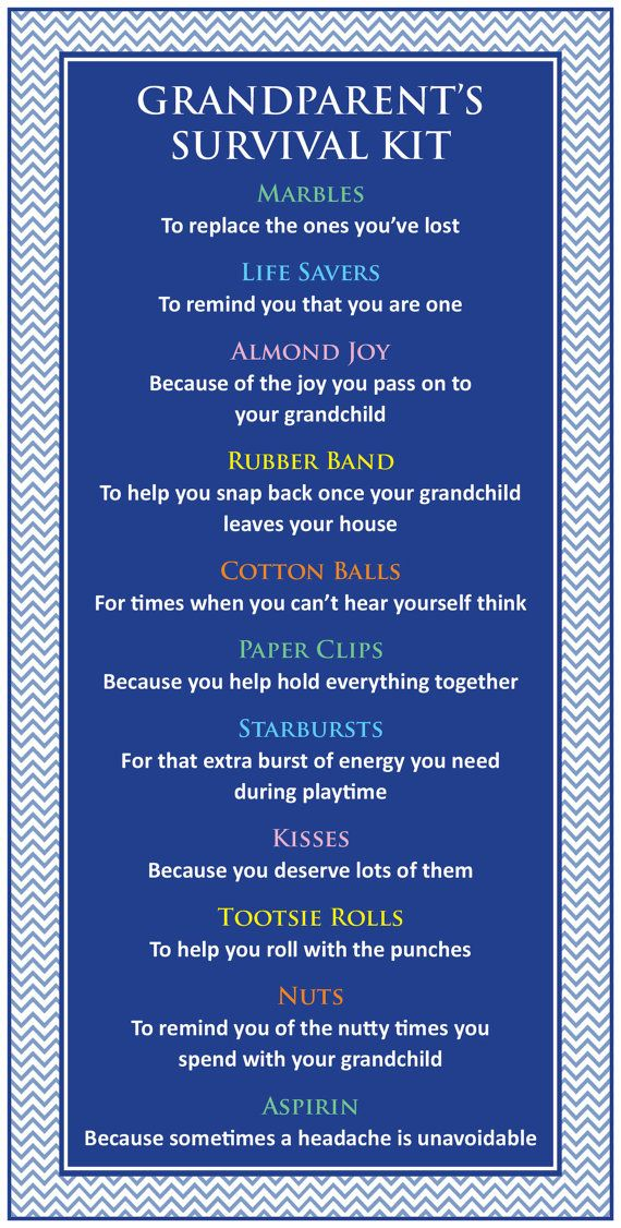 Survival Kit for Grandparents / Mother's Day / by DesignsbyKHW