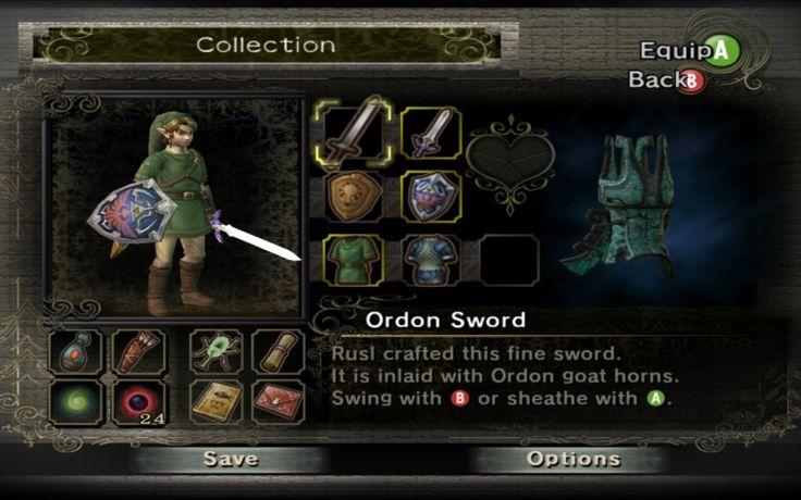 File:Inventory Screen TP.jpg - Zelda Wiki