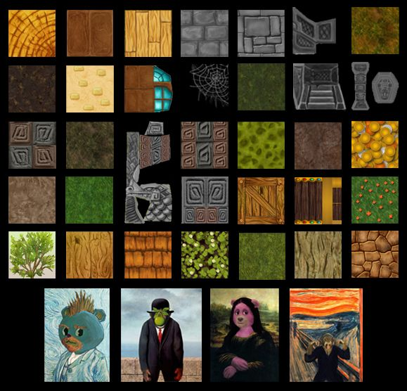 Algunas texturas del juego/Some textures from the game.