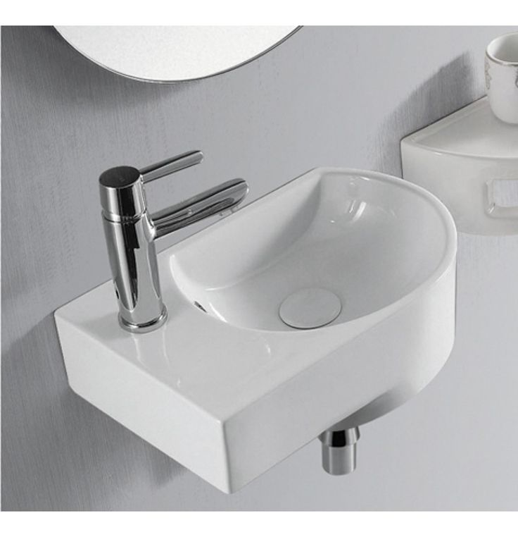Aquant Table/Wall Mounted Wash Basin Of L 410 X W 270 X H 140 MM In White (1520-R)