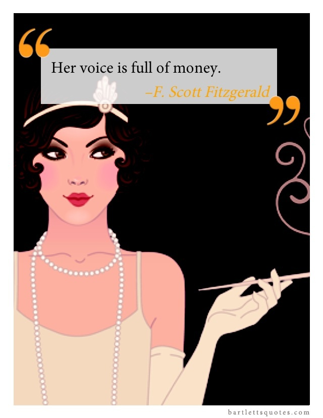 An analysis of daisys voice in the great gatsby by f scott fitzgerald