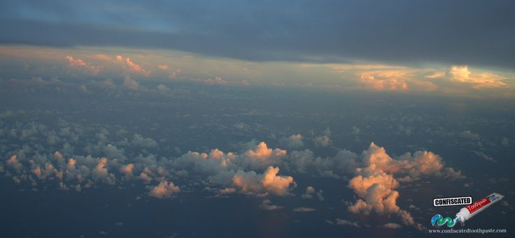 """Sunrise above the clouds.  """"The Truth about Flying"""": http://www.confiscatedtoothpaste.com/the-truth-about-flying/"""