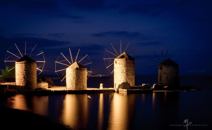 Chios, The three mills - Chios, The three mills
