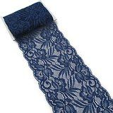 Amazon.com - Navy Blue 108 Inch x 9 Inch Lace Table Runner Narrow Wedding Chair Sash Extra Long Roll -