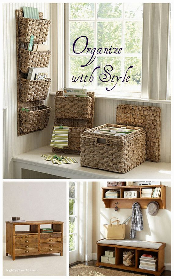 20 Ways to Organize and Maximize your Space with Style #organizing