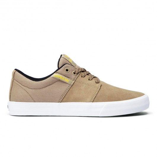 SUPRA Stacks Vulc II khaki white chaussures de skate 69,00 € #supra #suprashoes #skateshoes #chaussures #shoes #chaussure #shoe #suprafootwear #skate #skateboard #skateboarding #streetshop #skateshop @playskateshop
