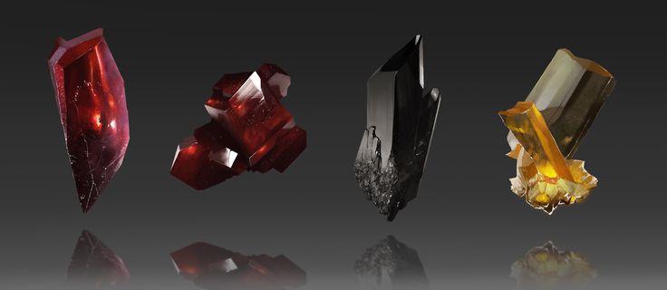 Crystal Study, Botos Vlad on ArtStation at https://www.artstation.com/artwork/1b0vK