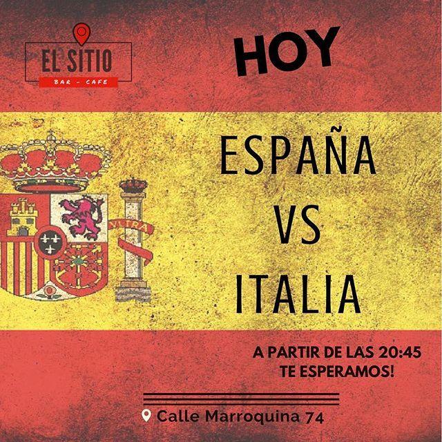 """""""Hoy todos con la Roja ⚽️🇪🇸❤️a partir de las 20:45 España vs Italia transmitiremos en el @elsitiobarcafeteria -----> ven a degustar de un ricos aperitivos, buen ambiente y mucho FÚTBOL ⚽️🇪🇸 #Bar #Cafe #moratalaz #moratalazMola #tapeo #tapas #caña #estrelladamm #empanadas #aperitivo #madrid #madridmola #spain #like #like4like #likeforlike #likesforlikes #instapic #instagood #instagram  #picoftheday #photographer #photooftheday #photography #empanada #food"""" by @elsitiobarcafeteria…"""