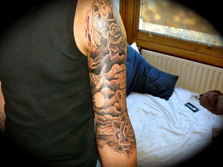 Half Sleeve Cloud Tattoos For Men