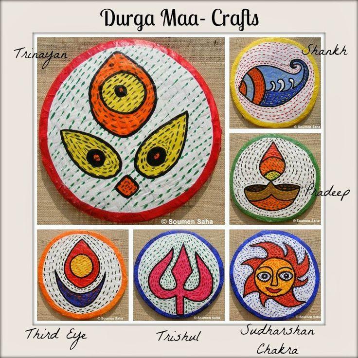 Day 6   Durga Maa Crafts Durga craft Collage photo