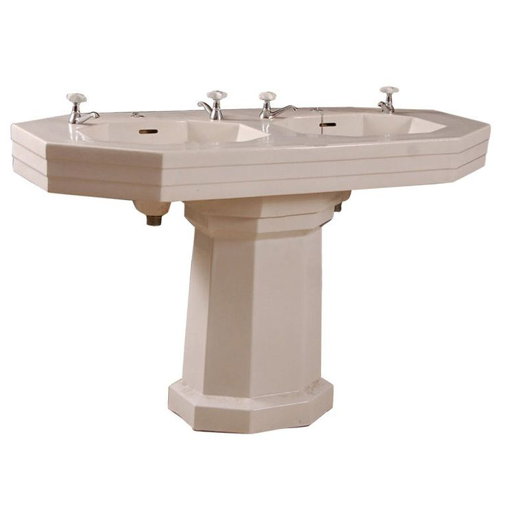 faucets 1930 s orig faucets double pedestal pedestal sink double sink ...
