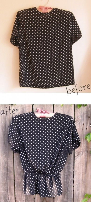 Refashioned thrift store clothes.
