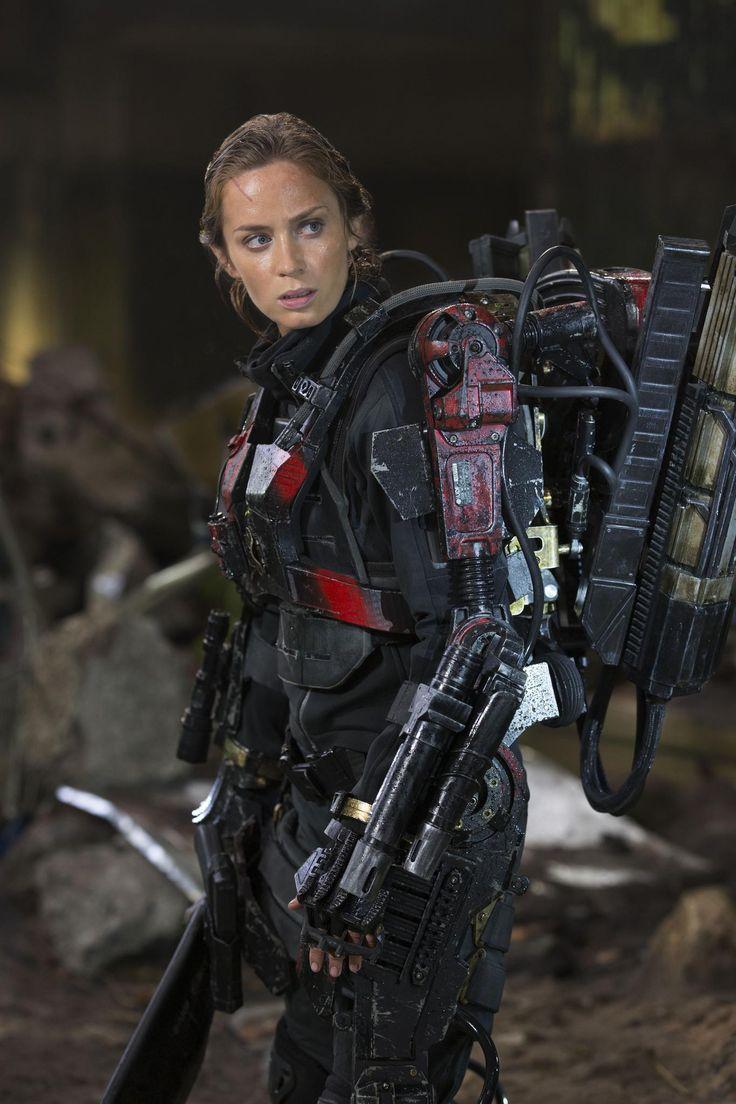 "Emily Blunt as Sergeant Rita Vrataski, aka ""the Angel of Verdun""  ""the Full Metal Bitch"" (Edge of Tomorrow)"