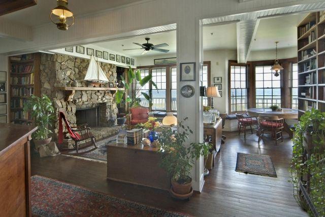 TheElizabethPointeLodge lobby - fireplace: