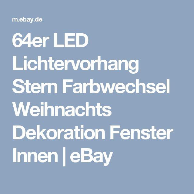 64er LED Lichtervorhang Stern Farbwechsel Weihnachts Dekoration Fenster Innen | eBay