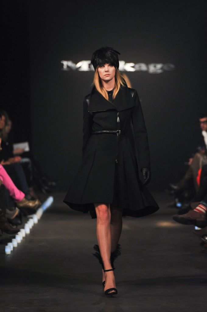 Loving this leather/wool military-esque dress #coat from #Mackage F/W12. Because, you know, #winteriscoming!