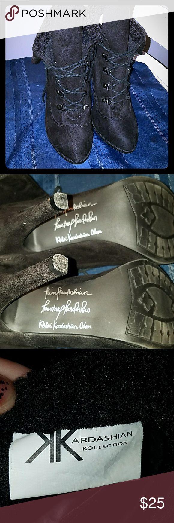 Kardashian Kollection Sexy Flirty Black heeled boots. 10M Never Worn!! Shoes Heeled Boots