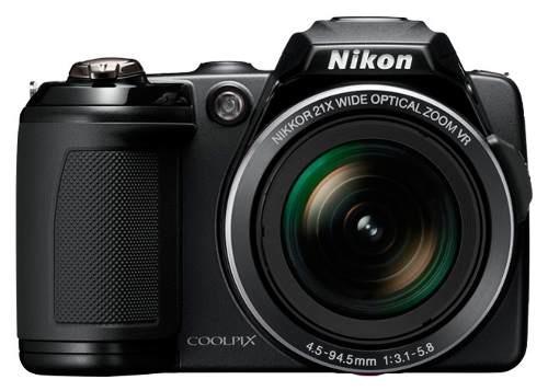 Nikon Semi-profissional, Nikon L120 Preta 14,1 Mp - R$ 600,00