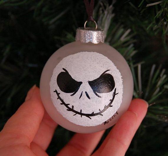 Jack Skellington Christmas Ornament: Nightmare Before Christmas Jack Skellington Hand Painted