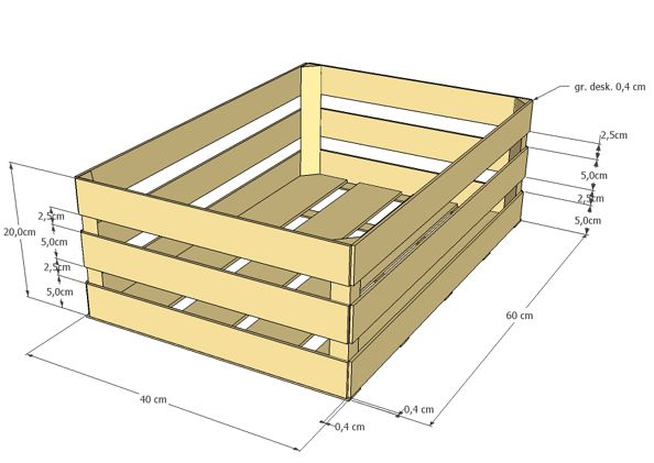 drewniana skrzynka na owoce wymiary - Szukaj w Google