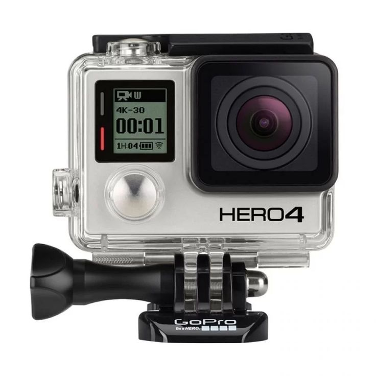 Go Pro Hero 4 by Go Pro. 4K resolution video recording capability at 30fps, or higher than the previous model which reaches 15fps. Another video with a resolution of 2.7k 50fps, 1440p 80fps, 120fps Full HD and 960p HD video at 120 fps. For setting option 240fps slow motion seems to be revoked. For still image capture can take pictures with 12Mpix at 30fps. http://www.zocko.com/z/JKHvj