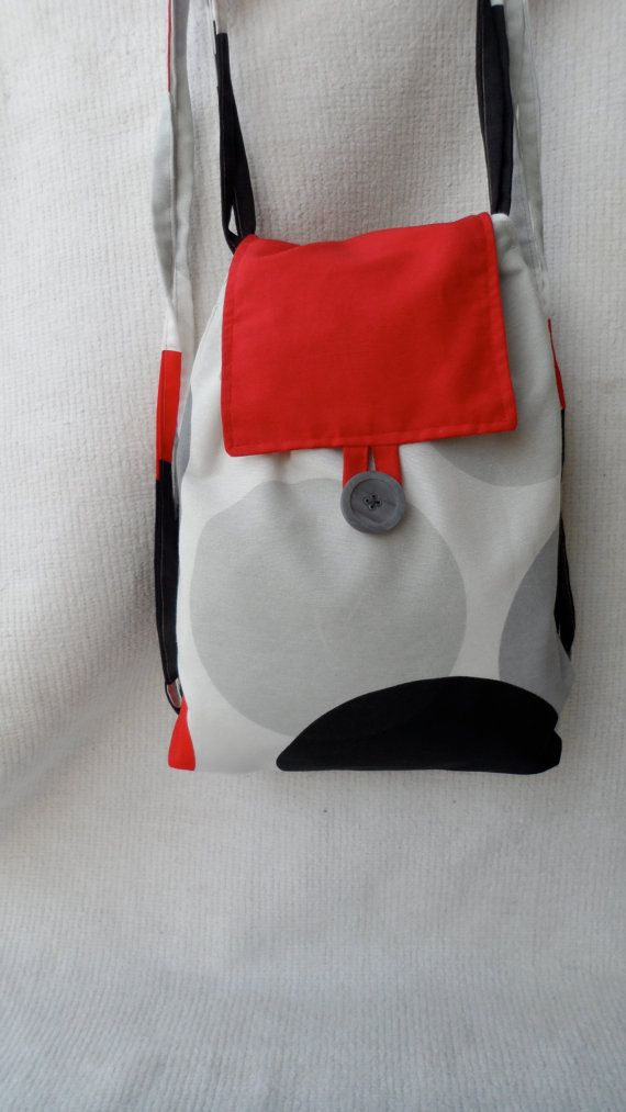 Handmade rucksack, fabric backpack, fashionable, unique and sustainable,