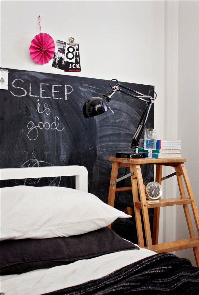 chambre peinture tableau noir écrire