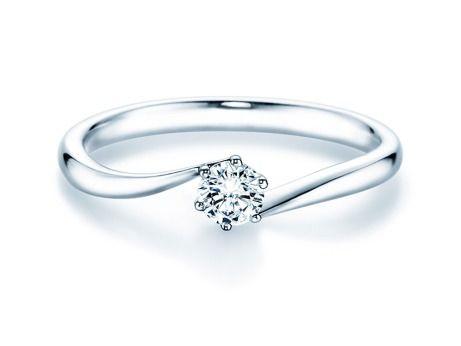 Verlobungsring Devotion in Silber (925/‑) mit Diamant 0,25 Karat