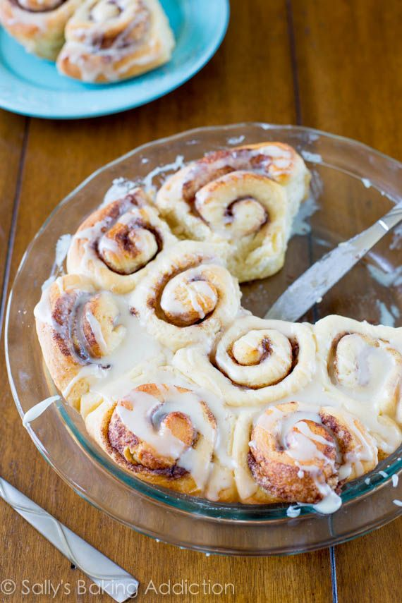 Easy Homemade Cinnamon Rolls from scratch. Fluffy, soft, and sweet. From sallysbakingaddiction.com