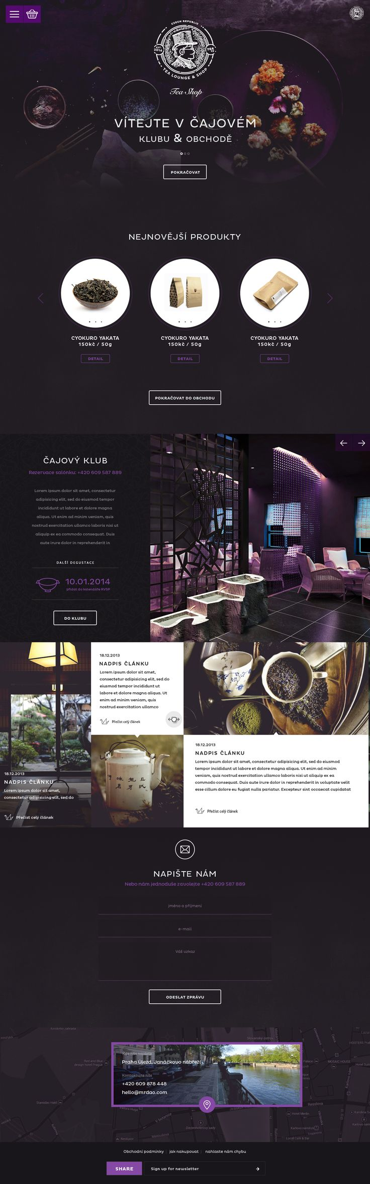 Mr.Dao Tea Lounge & Shop. Most exotic tea web design. #webdesign #design #tea