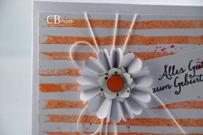 CB Paper: Nr. 74 Blume mit Streifen - geht immer