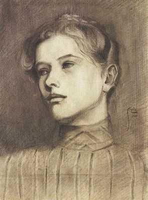 Portrait d'une jeune femme,  par Egon Schiele