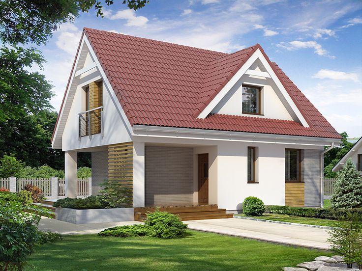 Poziomka 2 (71,74 m2) to projekt domu jednorodzinnego, który z powodzeniem może pełnić funkcje domu rekreacyjnego. Pełna   prezentacja projektu dostępna jest na stronie: https://www.domywstylu.pl/projekt-domu-poziomka_2.php. #projekty #projekt #domy #dom #domywstylu #mtmstyl #nawąskądziałkę #wąskadziałka #aranżacje #design #architektura #home #houses