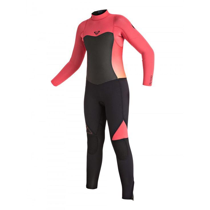 Girls 8-14 Syncro GBS 4/3 Back Zip Steamer Wetsuit ERGW103002 Roxy