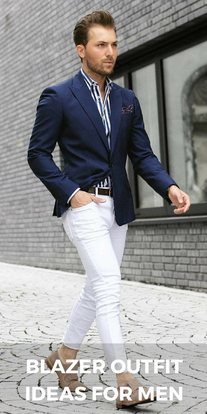 wonderful casual outfit with blazer men men