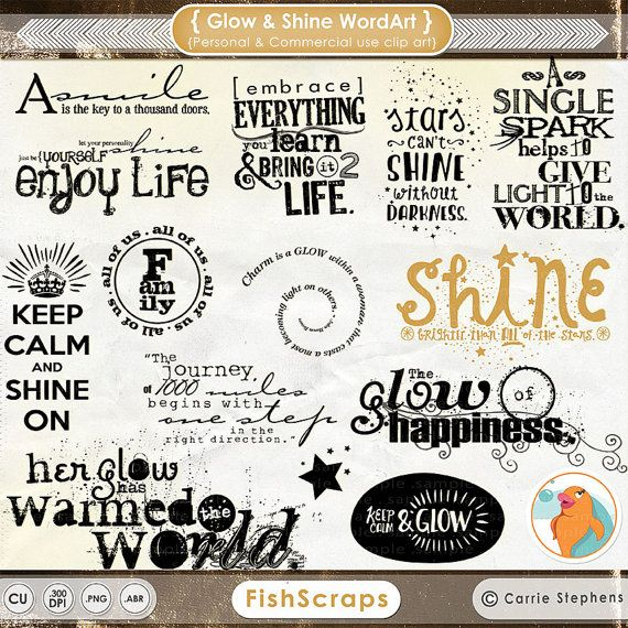 Glow and Shine Word Art - Motivational Typography