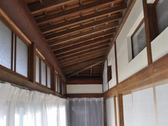 廊下-壁塗り完了