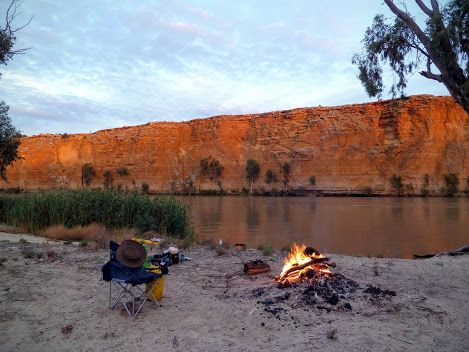 Campsite on the Murray River, South Australia