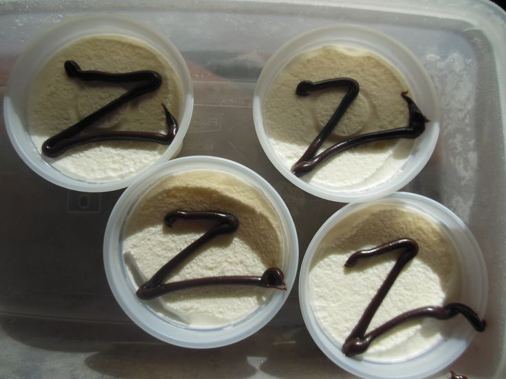 "Zorro Party:  Before party, ""paint"" cooled hot fudge Z's over ice cream cups.  Do not replace the lids, store in freezer until ready to serve. (use chocolate ice cream with red icing for z's?)"