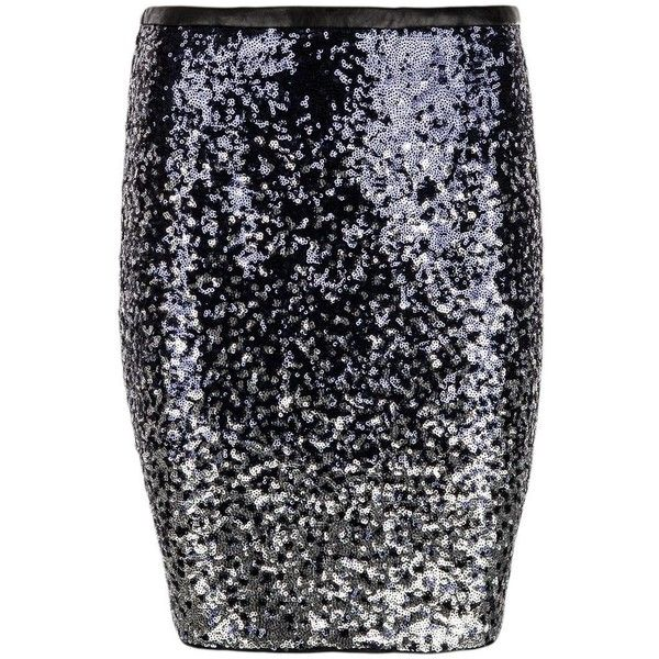Morgan Sequinned Pencil Skirt ($40) ❤ liked on Polyvore featuring skirts, blue, clearance, bodycon skirt, sequin pencil skirts, blue pencil skirt, bodycon pencil skirt and knee length skirts