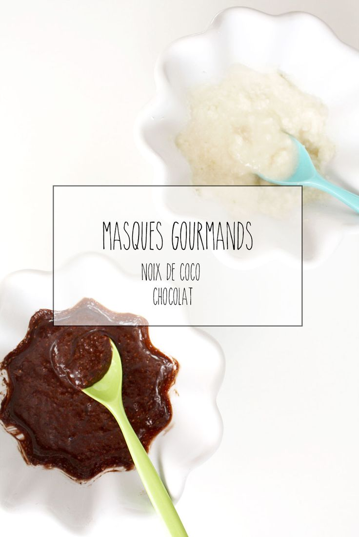 {Beauté} 2 masques ou gommages gourmands – coco & chocolat
