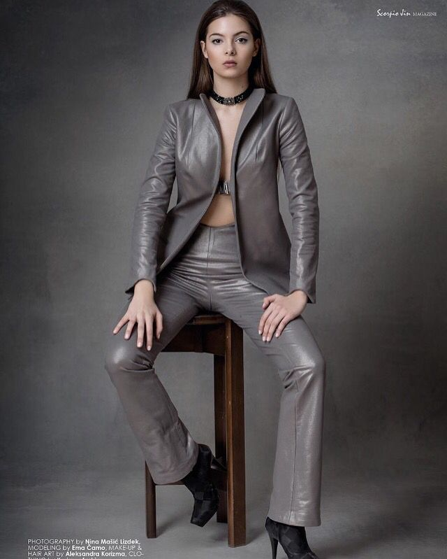 Gunmetal suit
