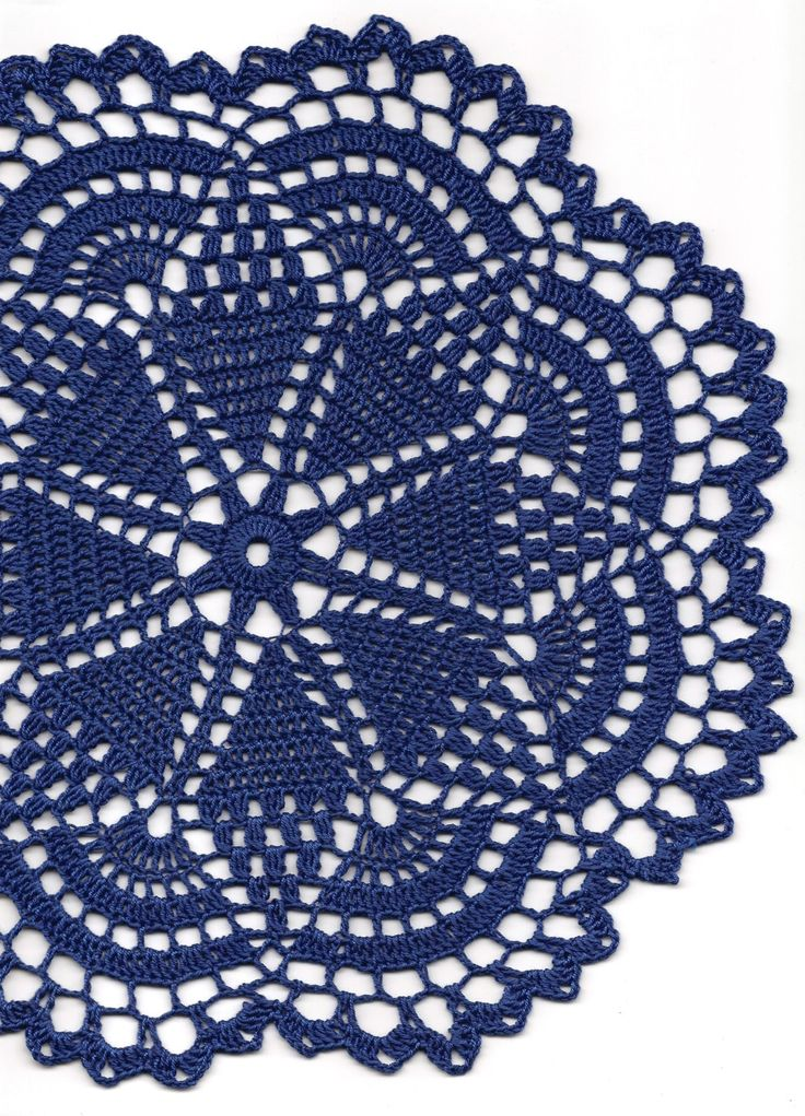 Crochet doily lace doily table decoration crocheted place mat doily tablecloth table runner napkin navy blue (7.00 GBP) by DoilyWorld