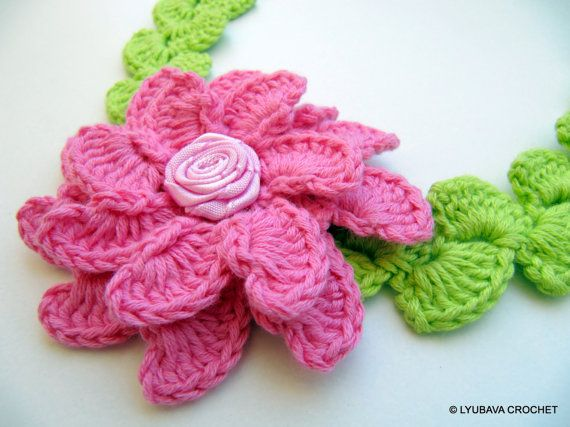 Crochet Pattern Lyubava Crochet Flower Headband by LyubavaCrochet, $3.50