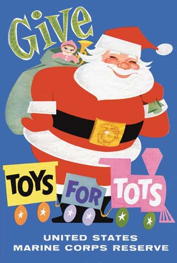In 1948, Walt Disney designed the first poster for Toys For Tots, including the trademark train logo still used today by the organization. Description…