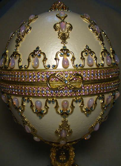 First Faberge egg.......went to the exhibit in New York City....unbelieveable...such beauty!!