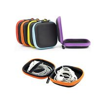 EVA Earphone Wire Cables Storage Box Zipper Protective Data Line Storage Container Organizer Case Earbuds SD Card Box 5 Colors(China (Mainland))