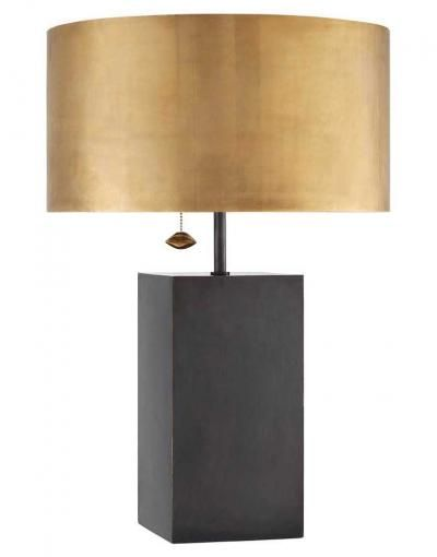 Kelly wearstler zuma table lamp mixed metal lamp shade